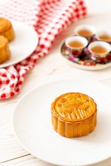 Chinesischer mondkuchen für chinesisches mittleres herbstfestival