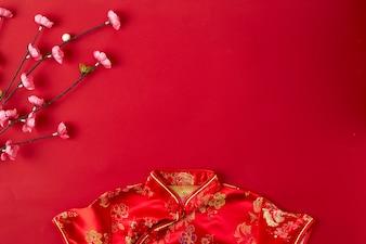 Chinesischer Rothintergrund des neuen Jahres.