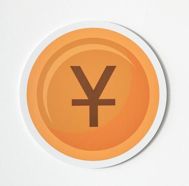 Chinesischer yuan und japanische yen-münze