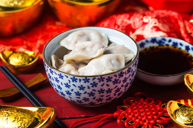 Chinesisches jiaozi-neujahressen