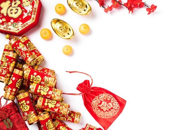 Chinesisches neujahrsfest draufsicht