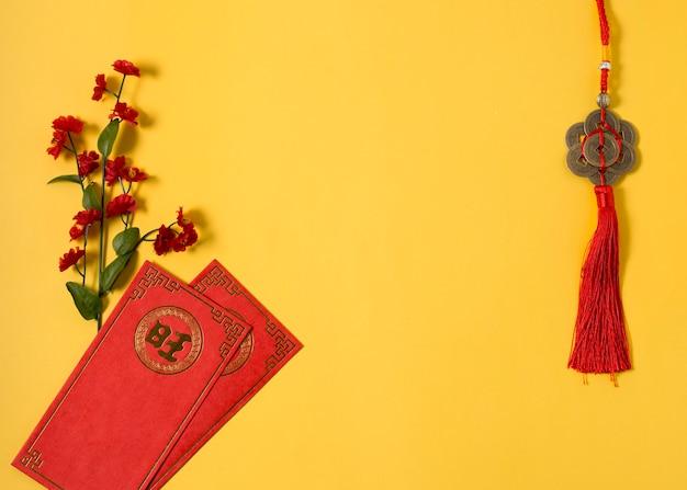 Chinesisches neujahrskonzept mit kopierraum
