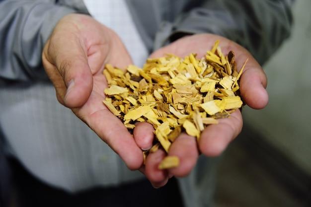 Chips zur räucherwurstnahaufnahme