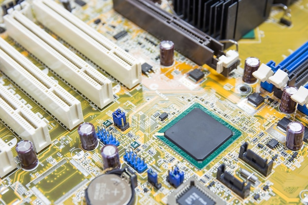 Chipsatz auf mainboard-pc, computer-mikroplatine