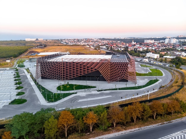 Chisinau arena mit weichem licht in moldawien