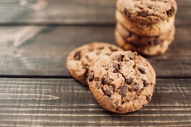 Chocolate chip cookies erschossen