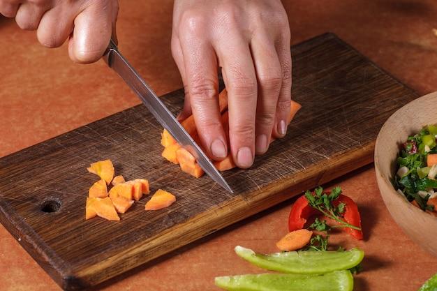 Chohhed vegetableschopped gemüse