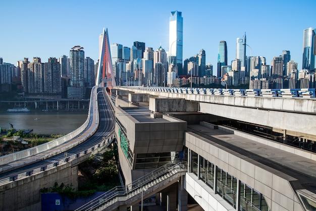 Chongqing skyline der stadt
