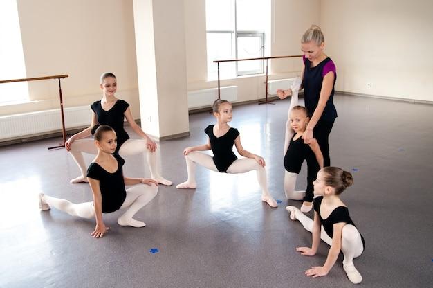 Choreografie, kinder, tanz, bildung, gruppe