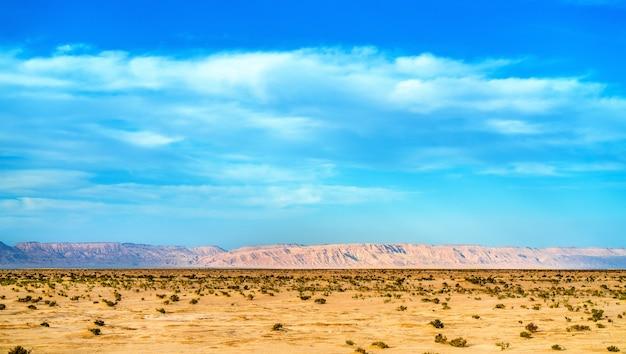 Chott el djerid, ein endorheischer salzsee in tunesien