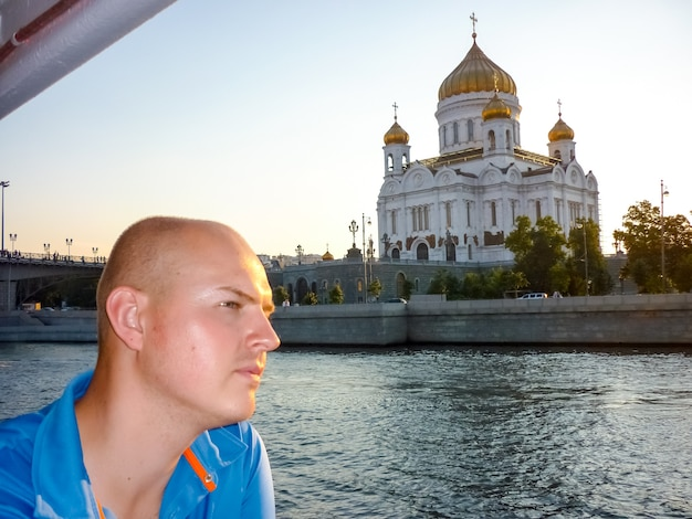 Christ-erlöser-kathedrale in der nähe der moskwa, moskau. russland
