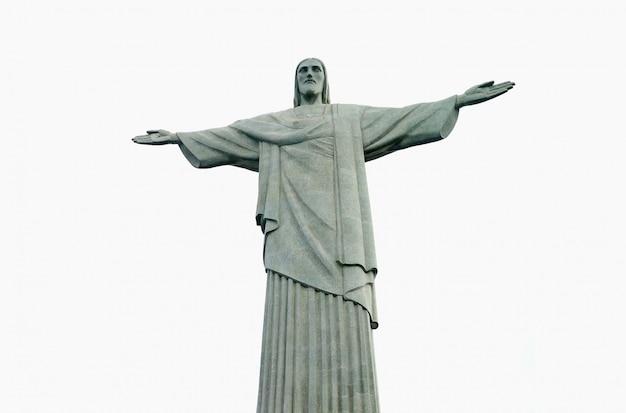 Christus der erlöser, statue an der spitze des corcovado-berges, rio de janeiro, brasilien