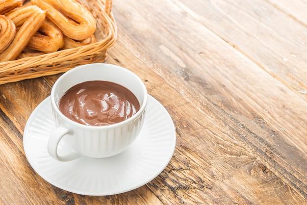 Churros mit chocolat typisch süß spanisch
