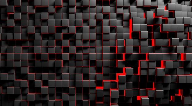 Cinema 4d-rendering des abstrakten würfelhintergrunds