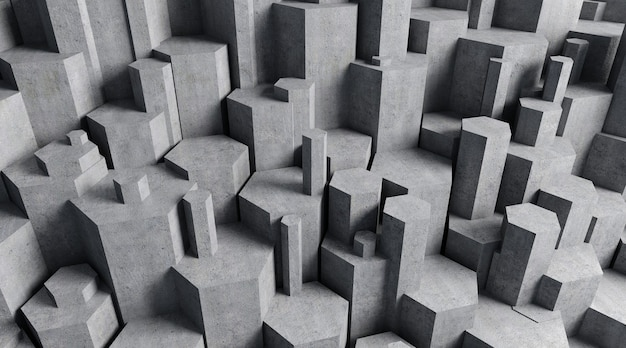 Cinema 4d-rendering eines fünfecksteinhintergrunds