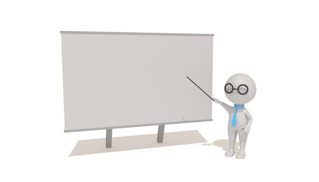 Cinema 4d-rendering von illustrationen für den unterricht im klassenzimmer