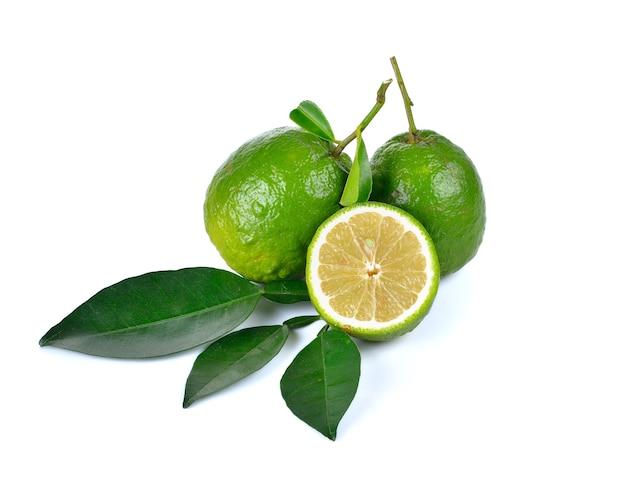 Citrus medica linn auf weiß