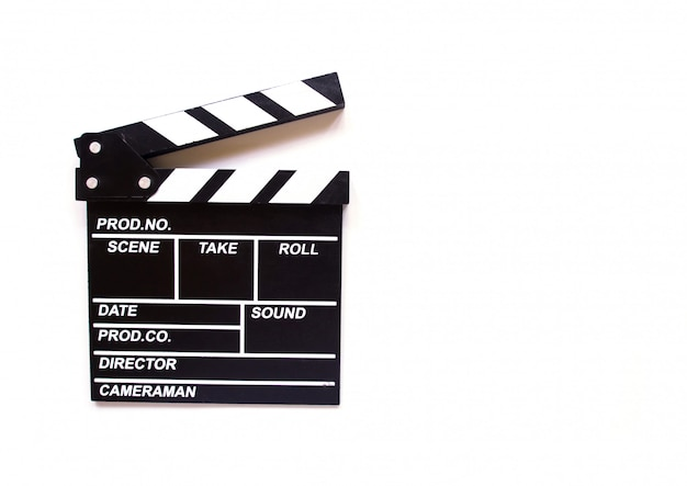 Clapper board isoliert