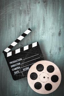 Clapperboards und die filmrolle