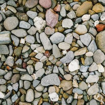 Cloe up sammlung von kieselsteinen