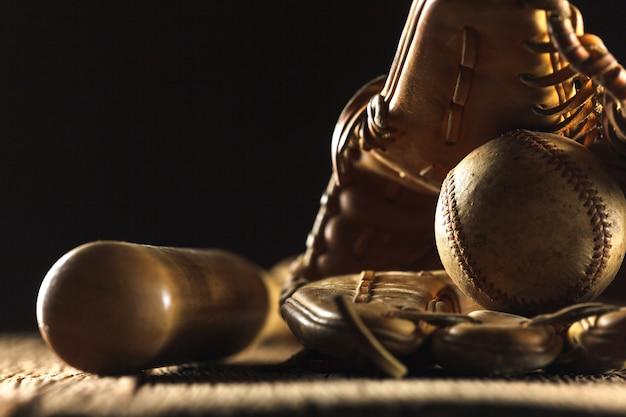 Close up bild von einem alten gebrauchten baseball