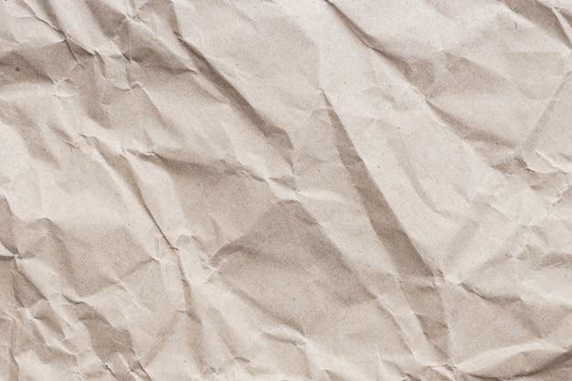 Close up braun zerknittertes papier textur und hintergrund