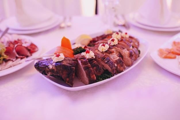 Close-up der köstlichen roastbeef