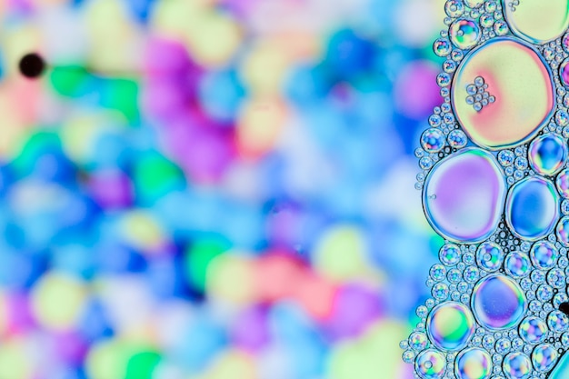 Close up frame mit blasen