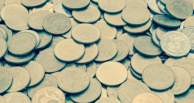 Close up münze texturen