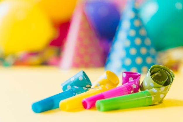 Close-up-party hörner