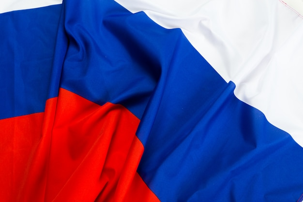 Close up schuss wellig flagge russlands