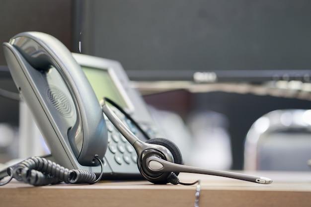 Close up soft-fokus auf telefongerät