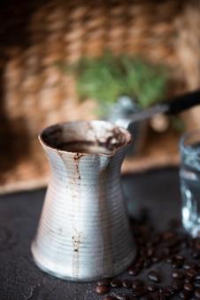 Close-up vintage kaffeekocher