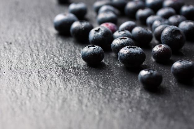 Close-up von frischen blaubeeren