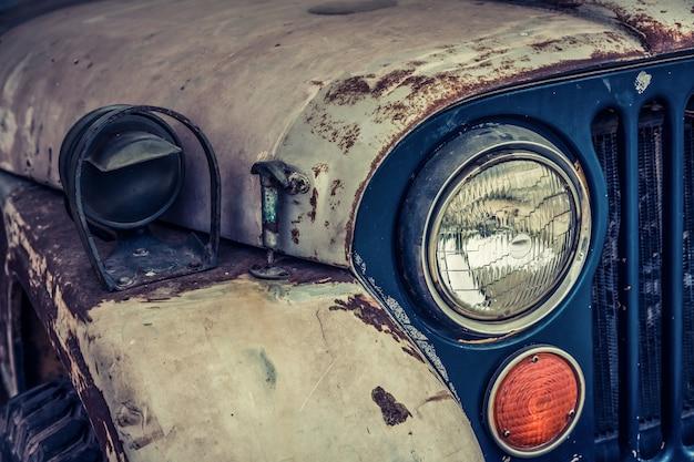 Close-up von vintage rostigen auto