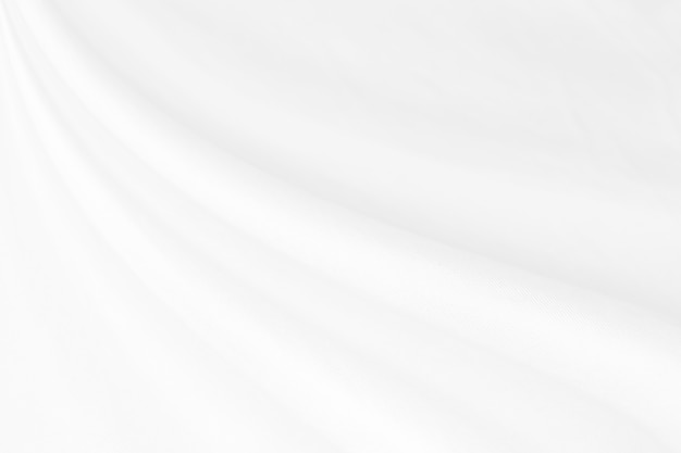 Closeup 3d elegant zerknittert aus weißem seidenstoff stoff hintergrund und textur. luxus-hintergrund-design.-bild.
