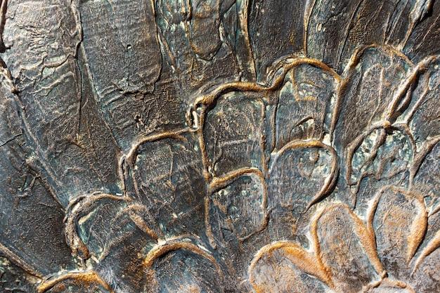 Closeup agavenkaktus, abstrakter natürlicher musterhintergrund und texturen, dunkelblau getönt