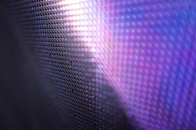 Closeup led unscharfer bildschirm. led-weichzeichnerhintergrund