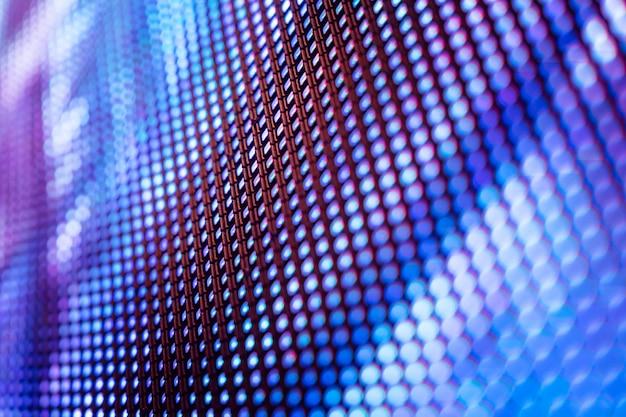 Closeup led unscharfer bildschirm. led-weichzeichnungshintergrund.