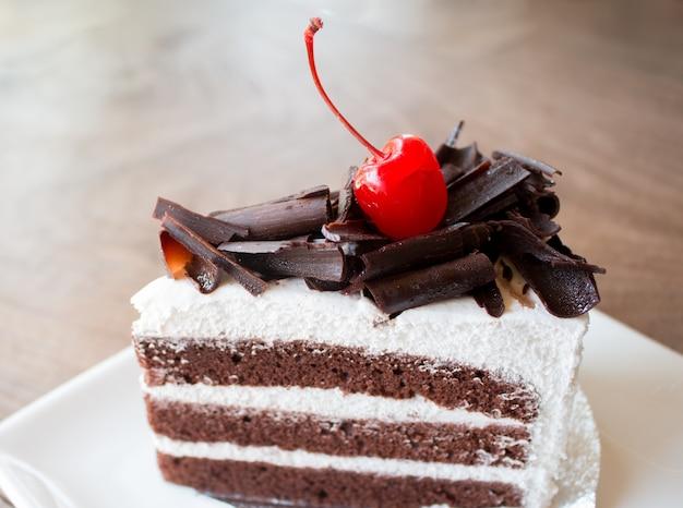 Closeup von schokoladenkuchen