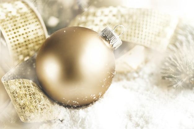 Closeup weihnachtskugel dekoration
