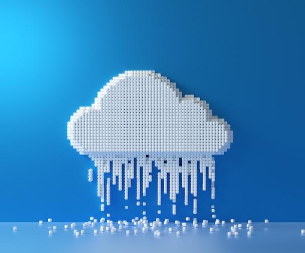 Cloud-computing-dienst, cloud-datenspeichertechnologie-hosting-konzept