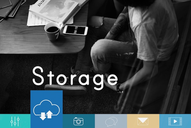 Cloud computing-speicher wird geladen