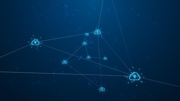 Cloud-computing und big-data-konzept.