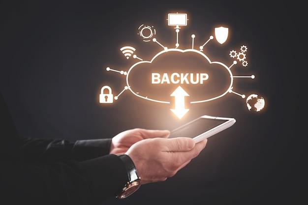 Cloud download backup