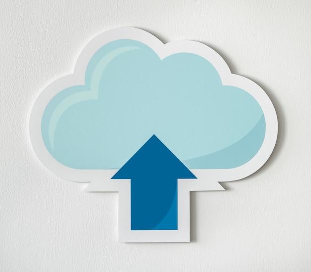 Cloud icon-technologie grafik hochladen