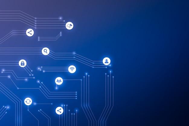 Cloud-technologie-symbol für abstrakten hintergrund des geschäftskonzepts
