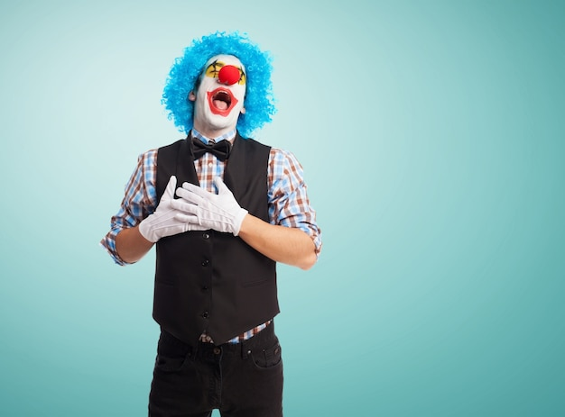 Clown lächelnd