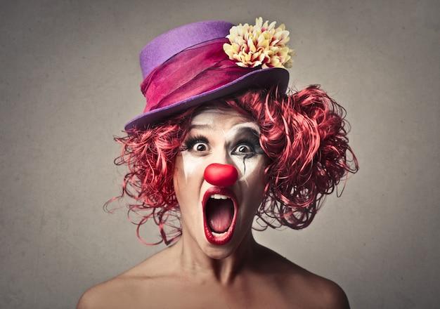 Clown schreit