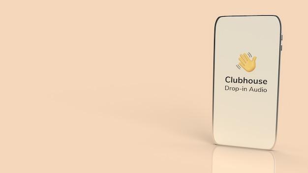 Clubhaus-app für die drop-in-audio-chat-anwendung auf dem smartphone Premium Fotos